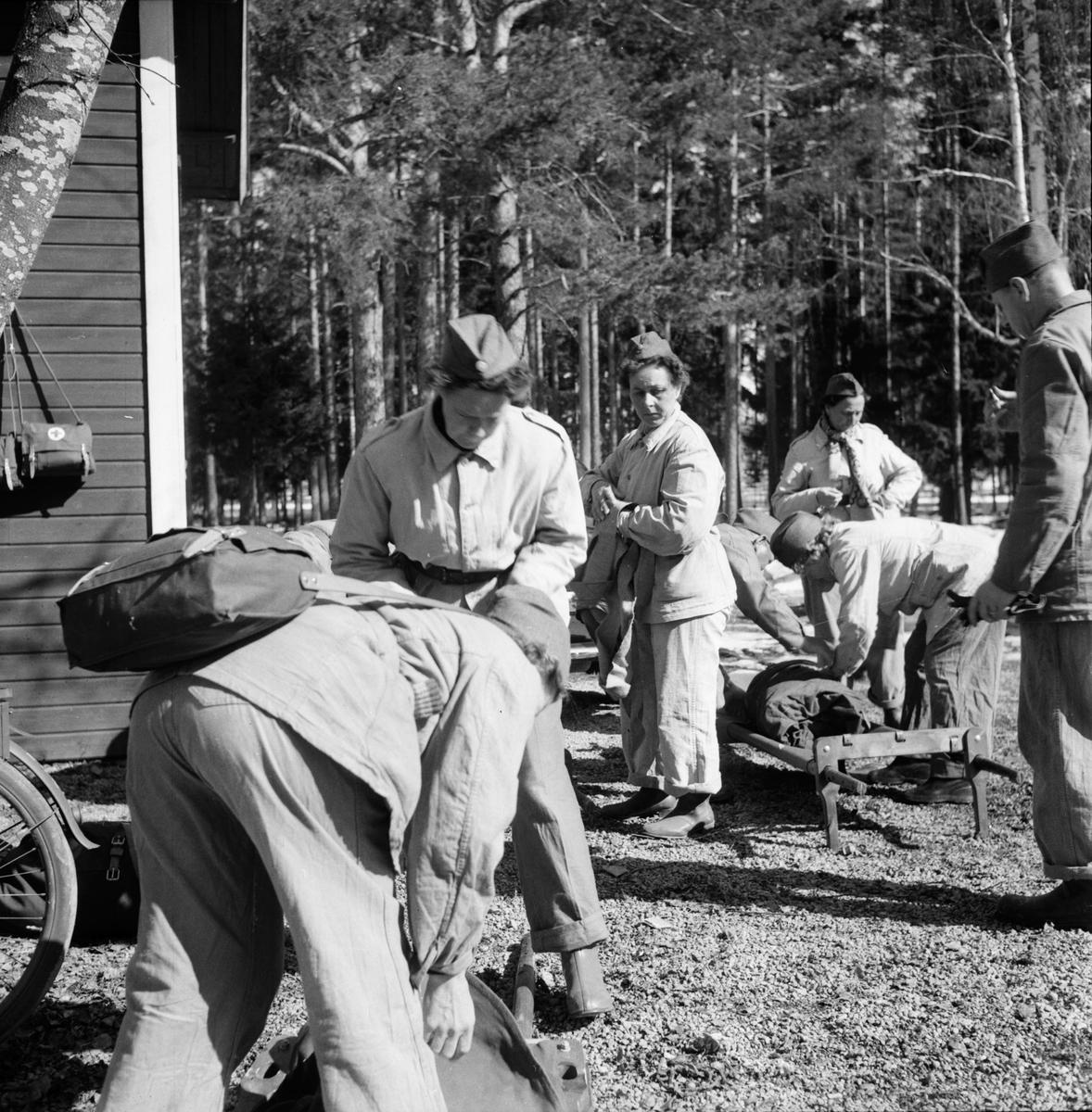 Röda Kors-kurs Fr.Wijnbladh 19/4 1956