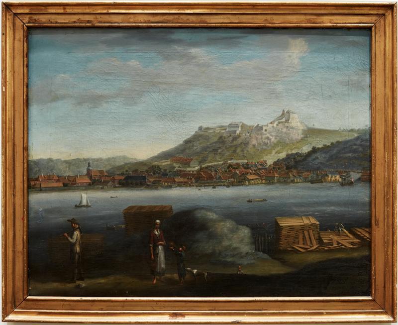 Utsikt over Halden, 1746.