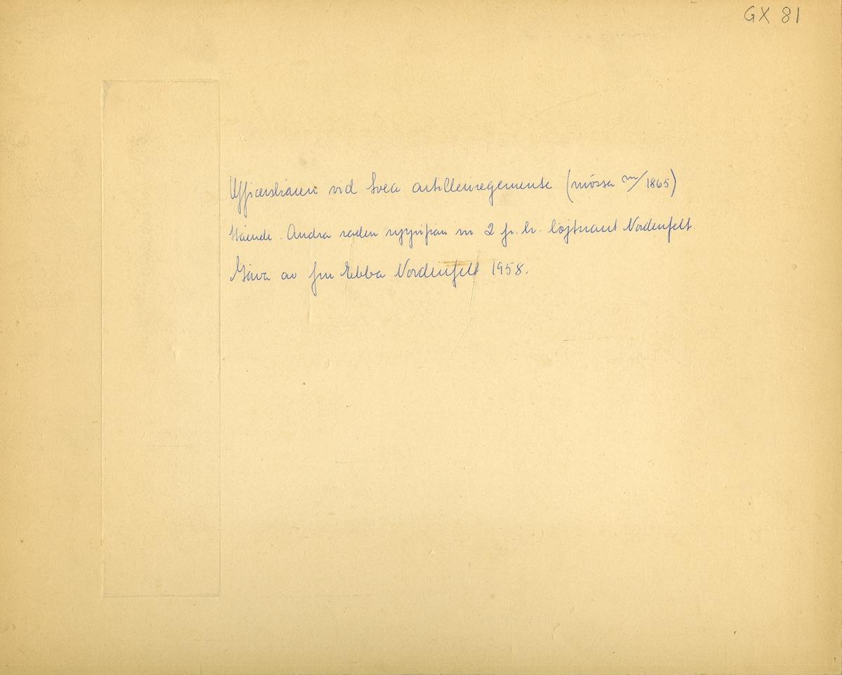 Grupporträtt av officerskåren vid Svea artilleriregemente A 1.