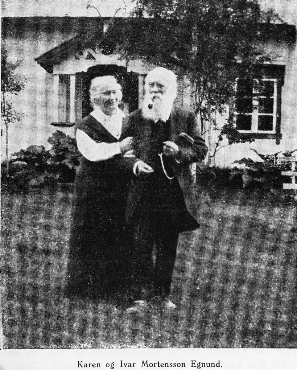 Karen og Ivar Mortenson Egnund.