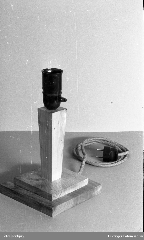 Lærer B. Landrøes modeller, lampe.