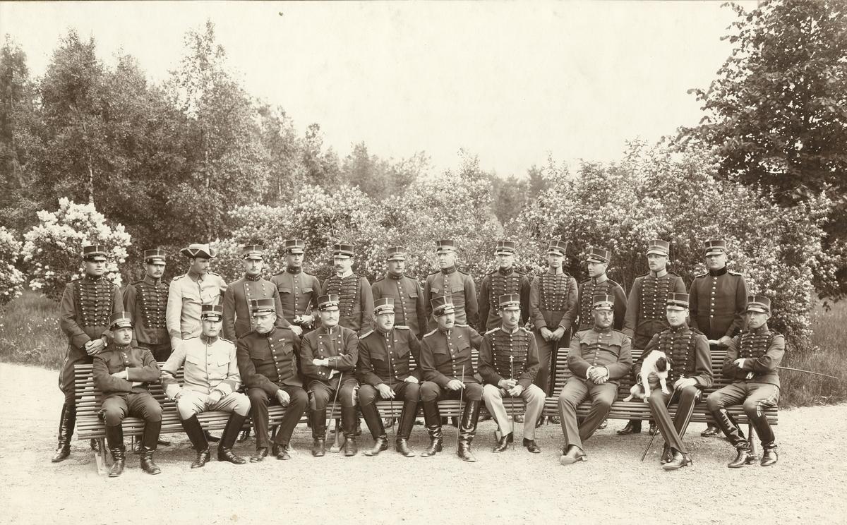 Positions och fästningsartilleriets skjutskola på Marma skjutfält 1912. För namn, se bild nr. 3.