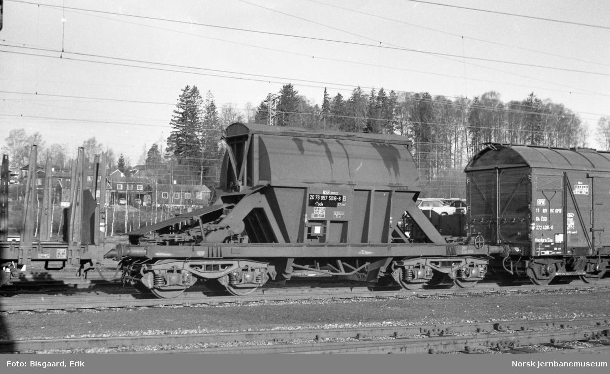 Bunntømmingsvogn litra Tads 057 5016 tilhørende Borregaard/Folldal Verk