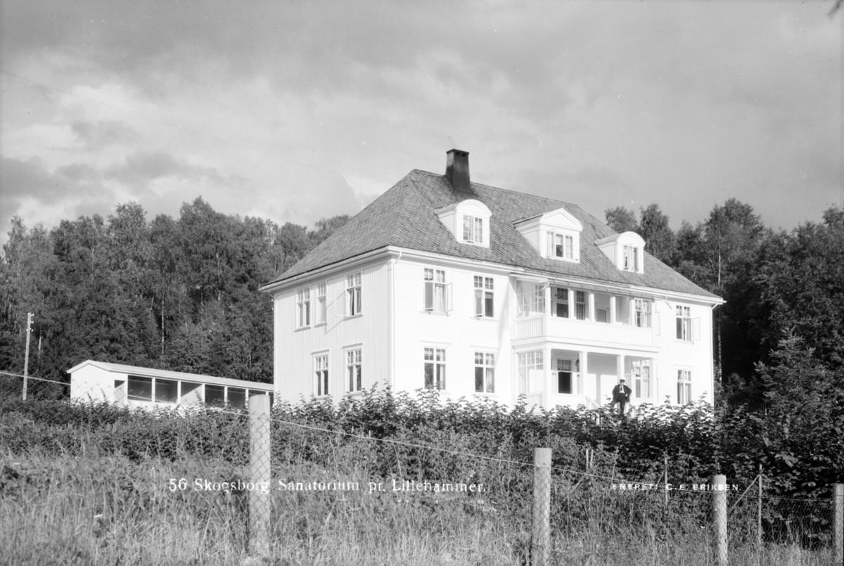 Skogsborg sanatorium i Lillehammer. Senere Bellevue.