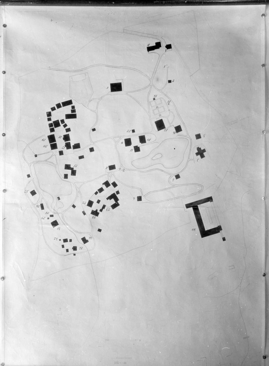 Kart over Maihaugen.