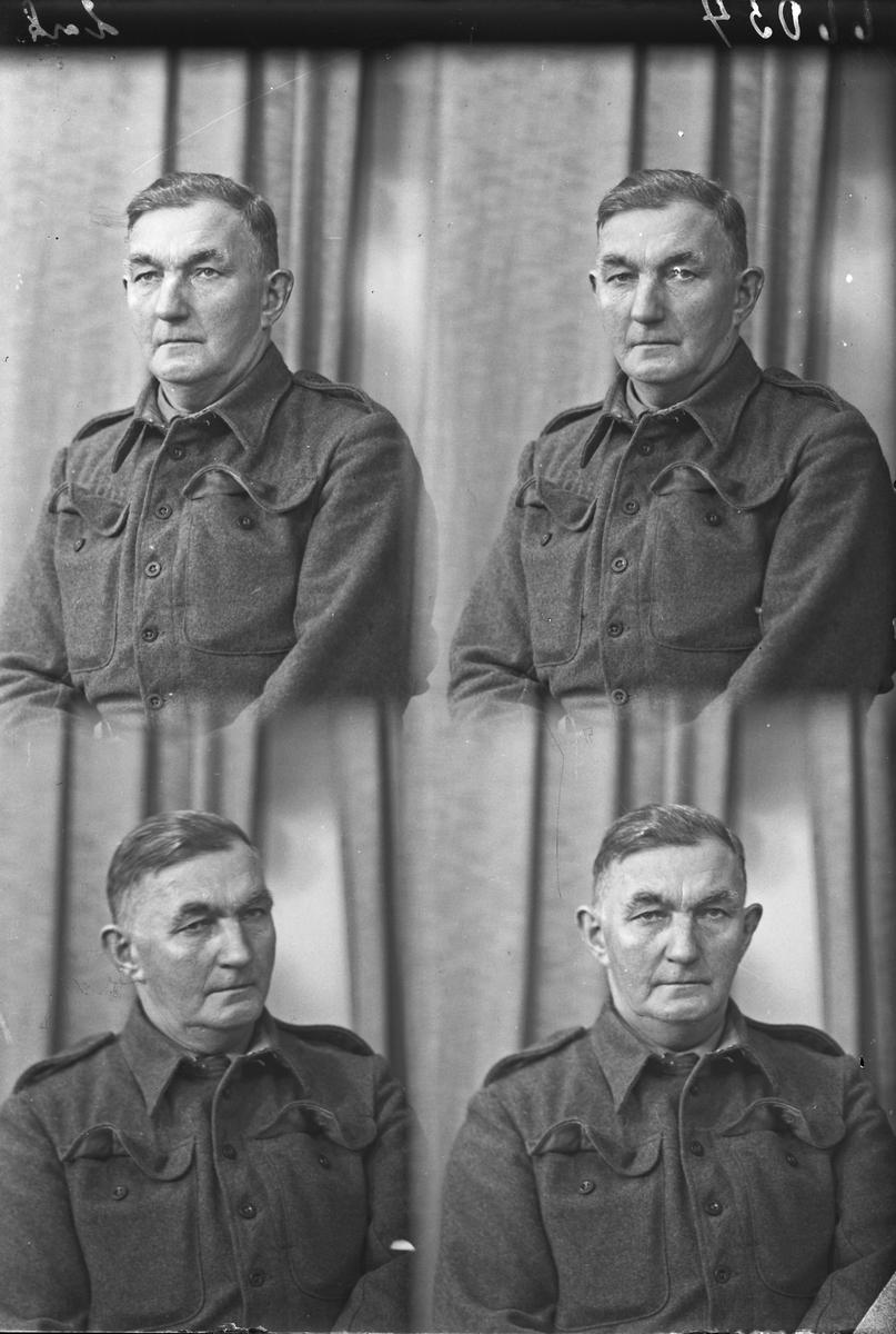 """Portrett. Mann i uniform. Bestilt av Anton Kristiansen.""""Gudrund""""."""