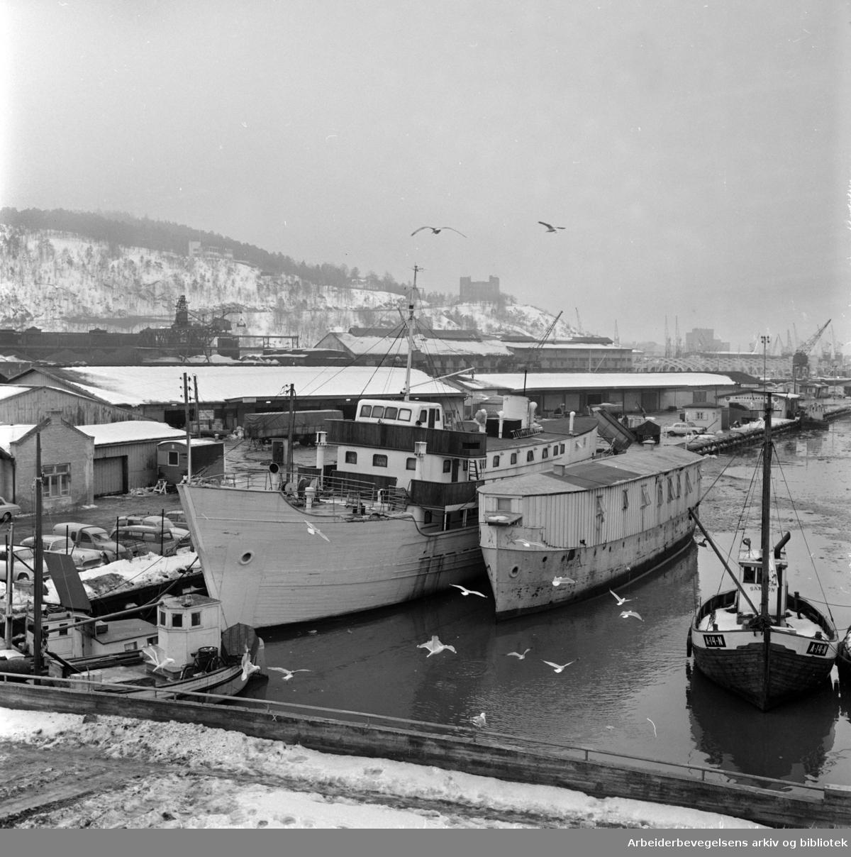 Sørenga ferdig utbygd i 1970. Februar 1967