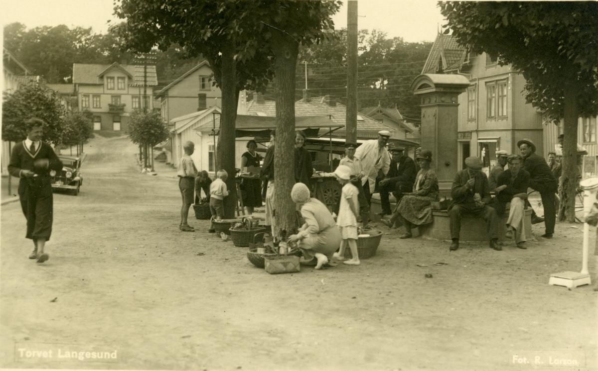Handel på Langesund torg