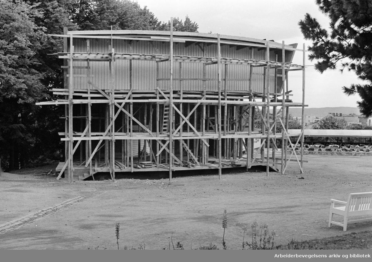 St.Hanshaugen får Amfi-teater. Juni 1961