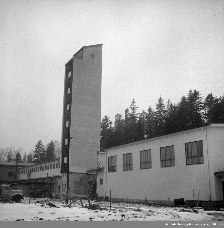 Smestad brannstasjon. Februar 1955