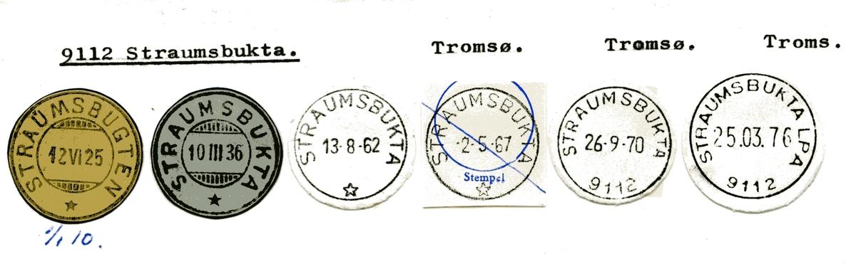 Stempelkatalog 9112 Straumsbukta, Tromsø kommune, Troms