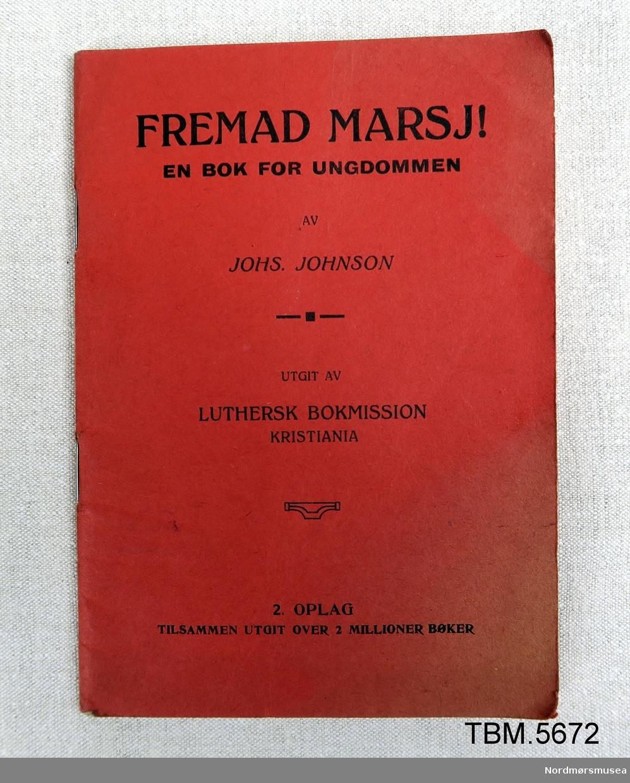 Rødt hefte, 36 sider. Oppbyggelig skrift for ungdom.