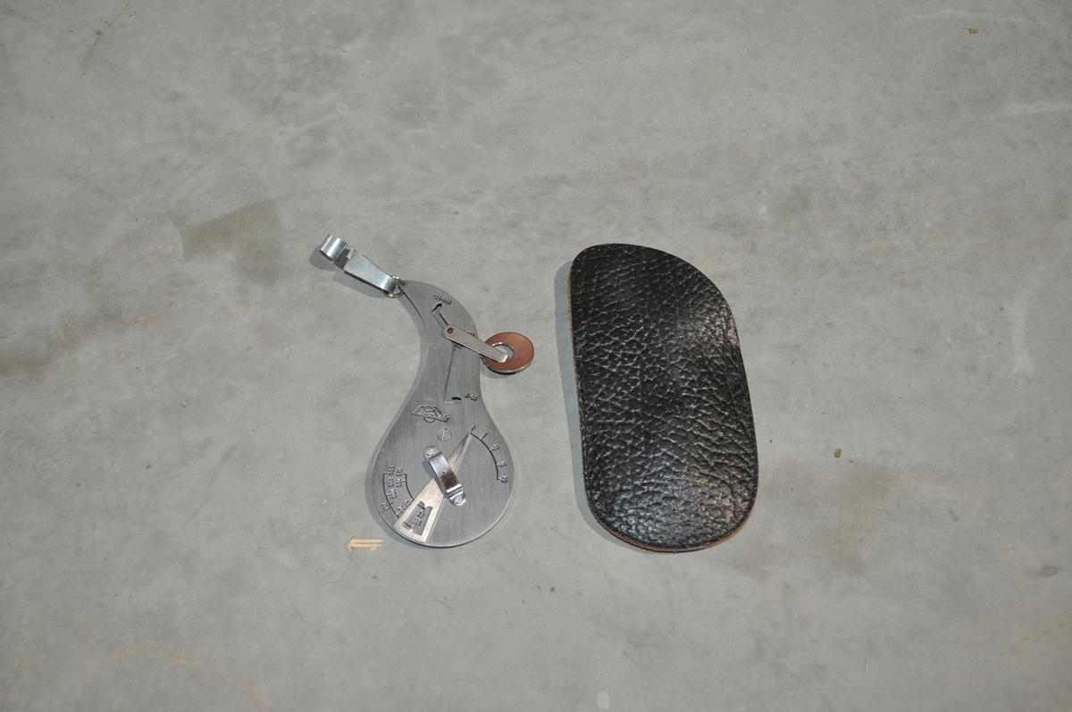 Brevvekt 0-500 g. til bruk i landposttjenesten  uten etui.