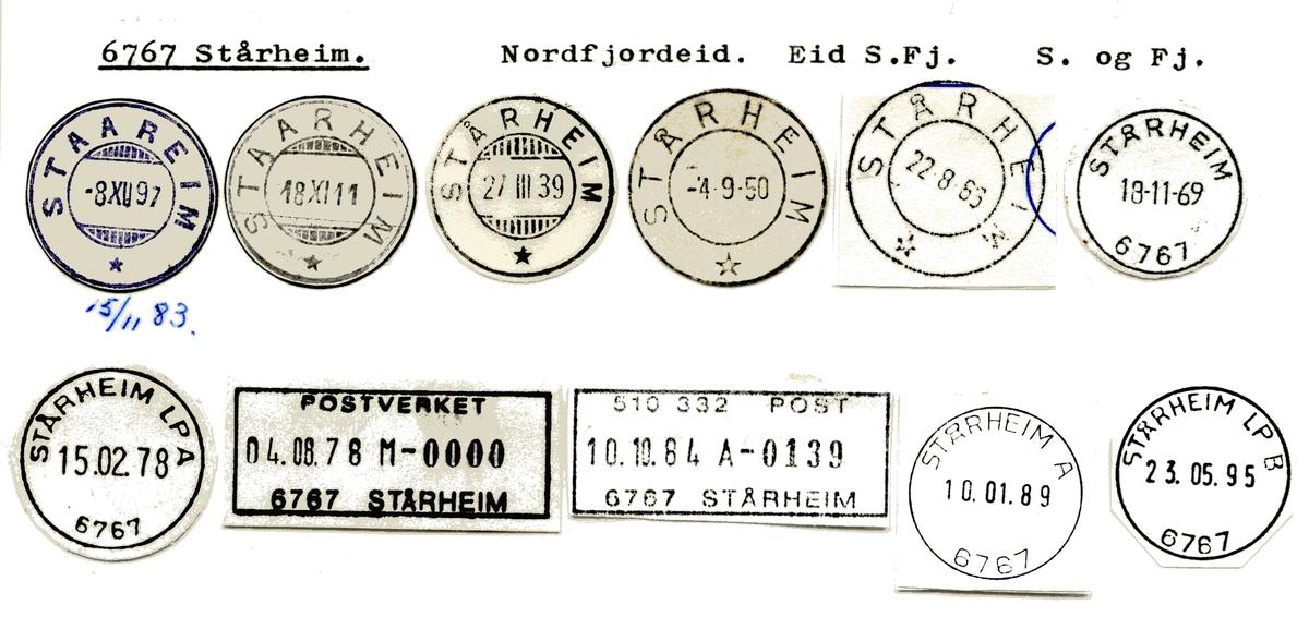 Stempelkatalog  6767 Stårheim, Eid kommune, Sogn og Fjordane
