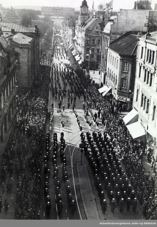 1. mai 1939, Karl Johans gate.