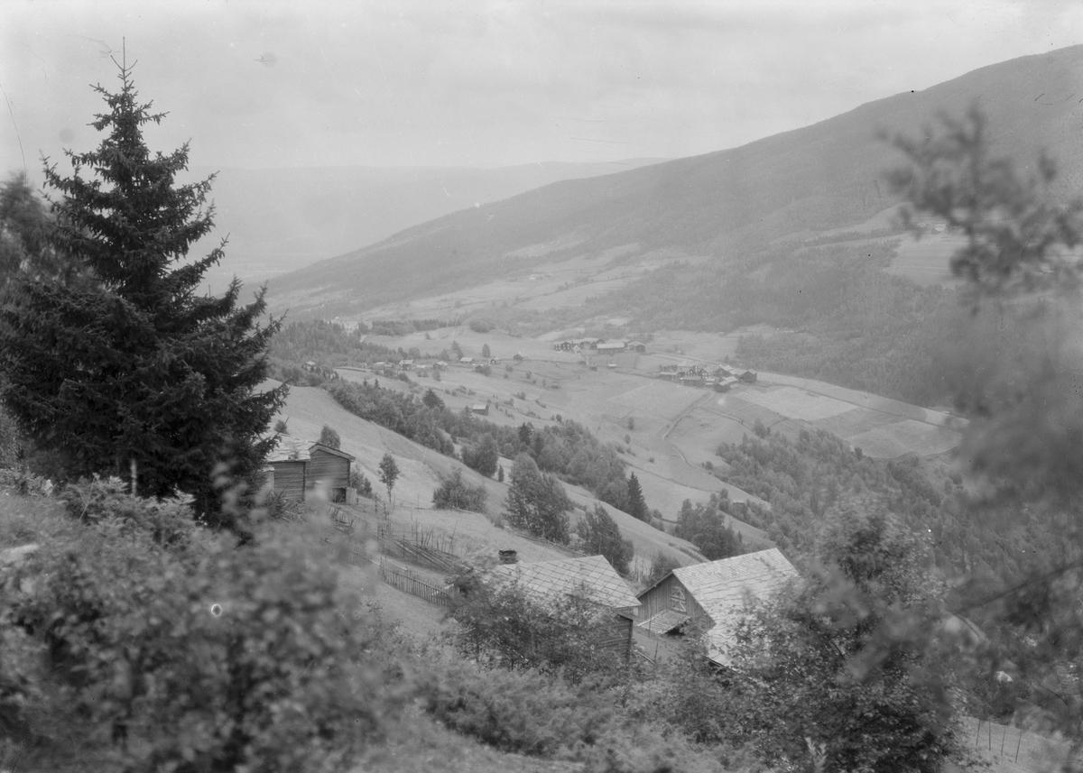 Antageligvis Ringebu kommune. En trang dal med to store gårder.