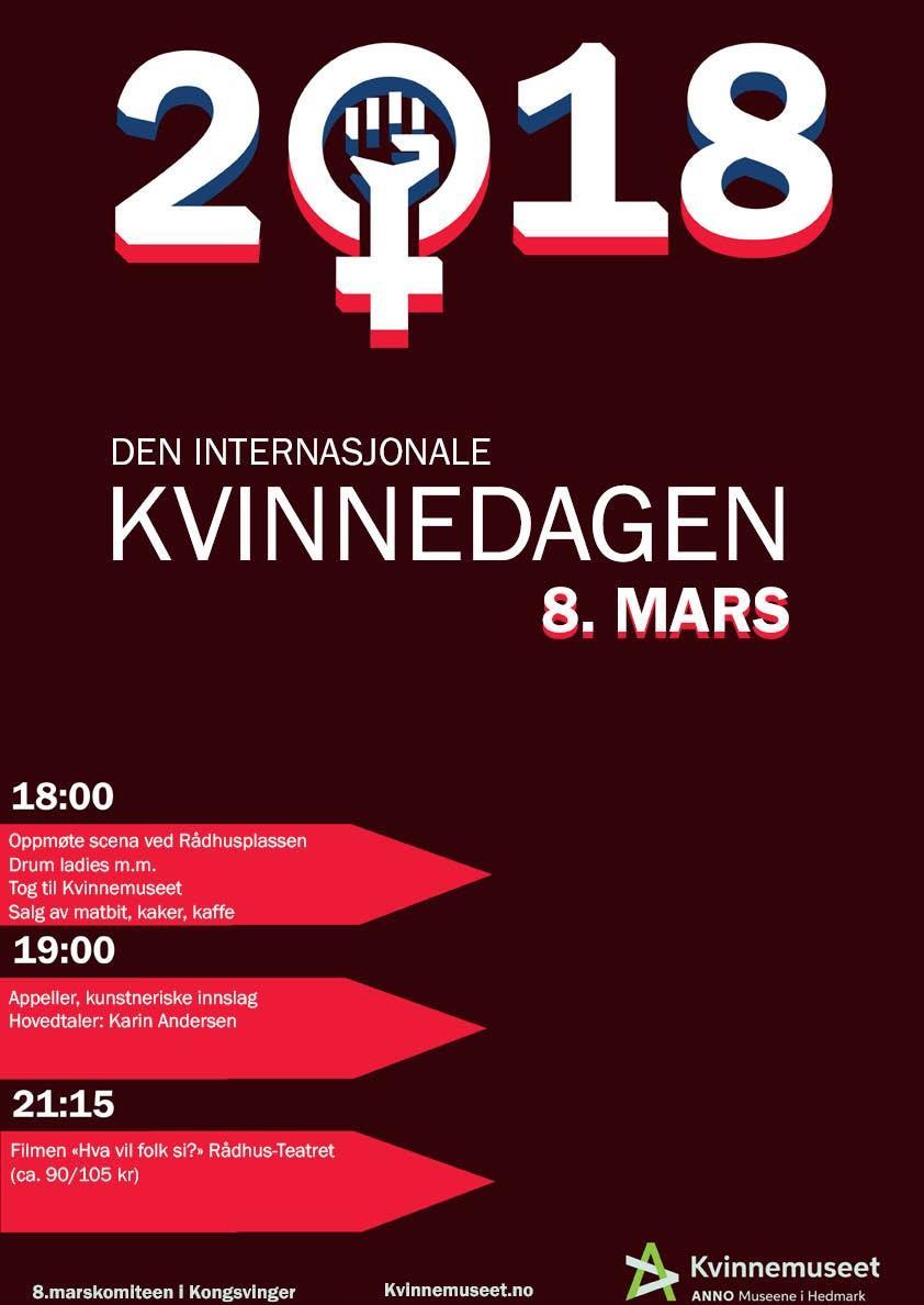 8.mars-plakat Kongsvinger 2018