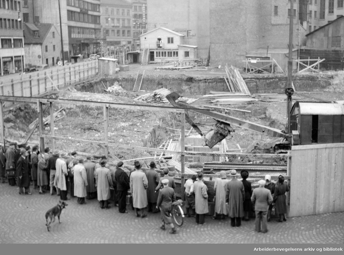 Viking Hotell under bygging. Mars 1949