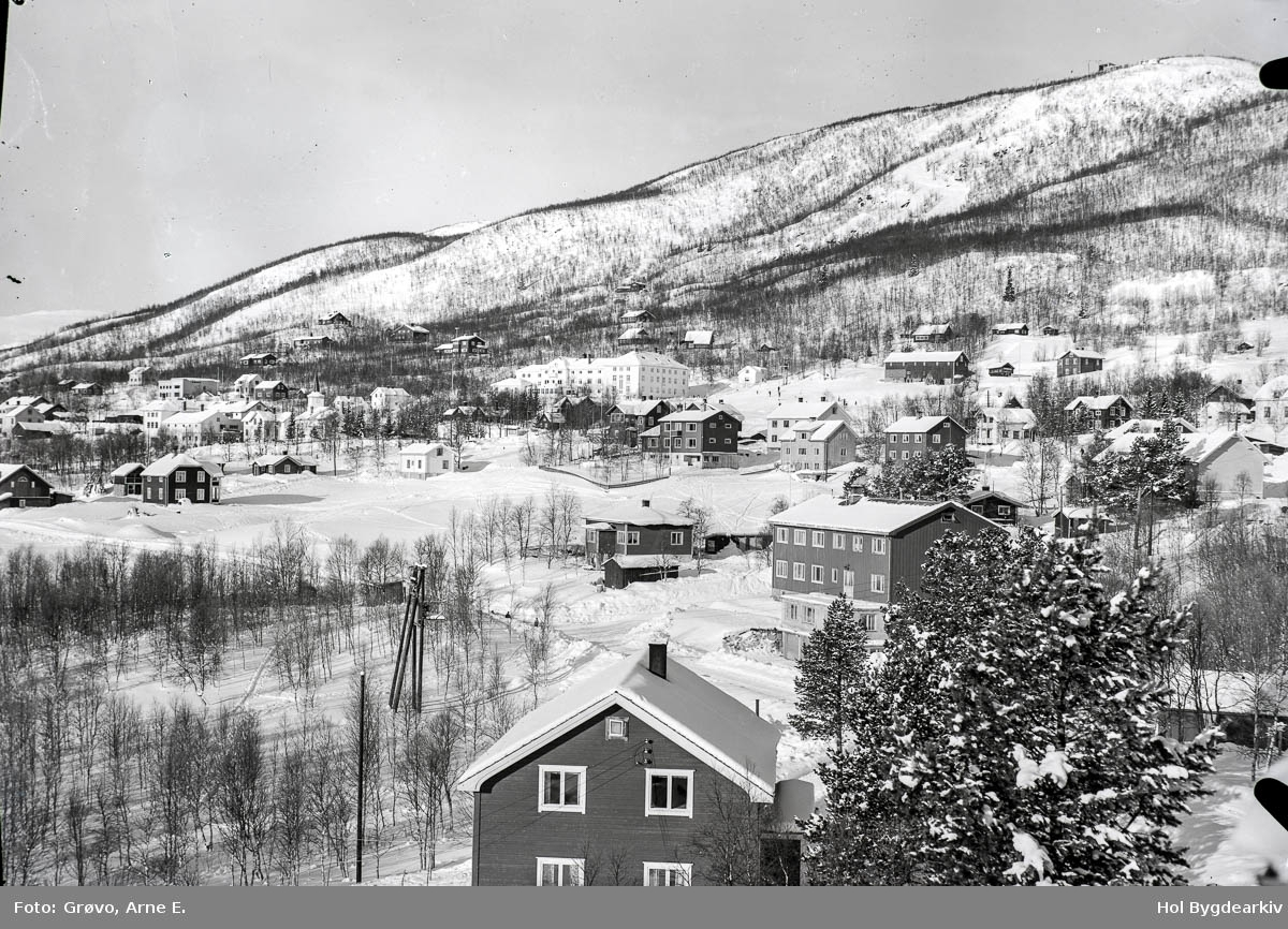 Tettstad, Geilo, vinter, sentrum, Holms Hotel,