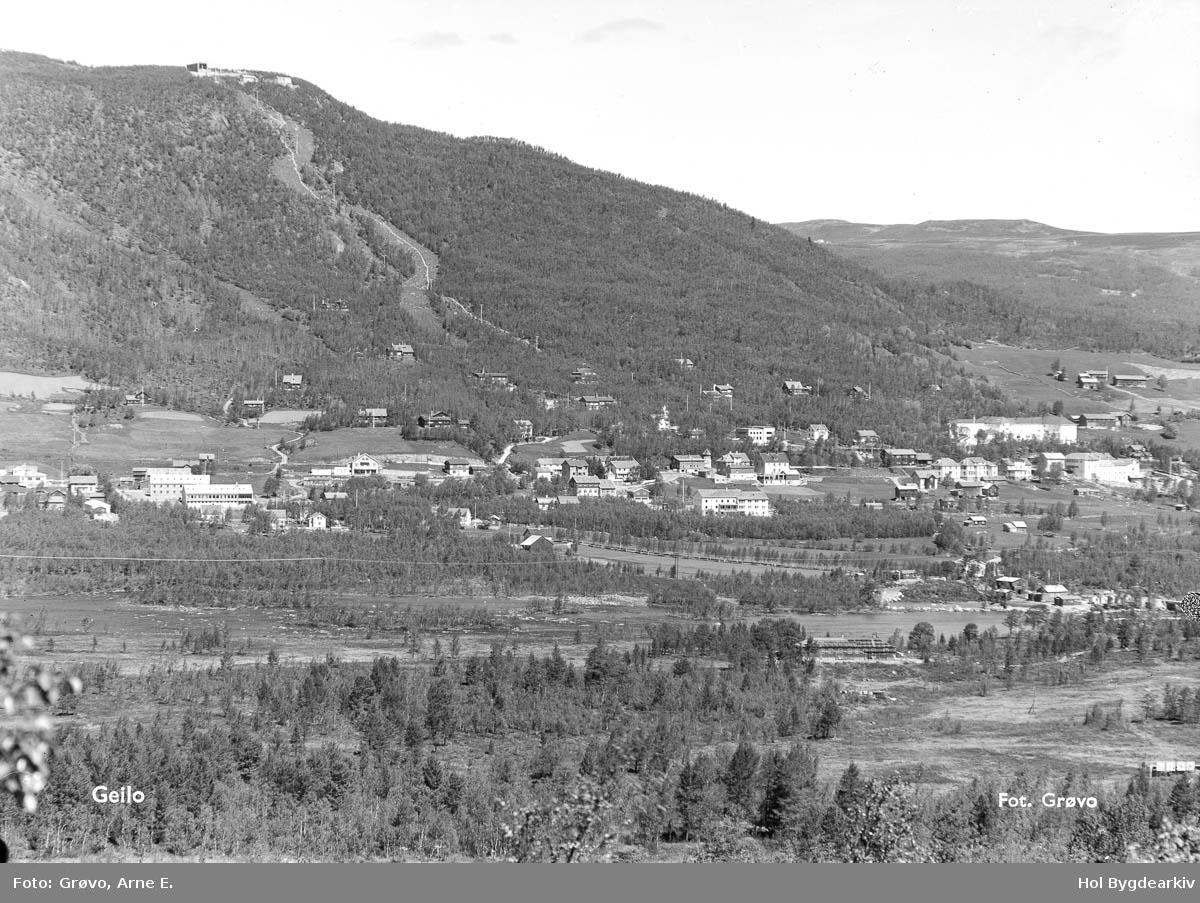 Tettstad, Geilo, fjellbygd, sommar, slalombakke, Landskap,
