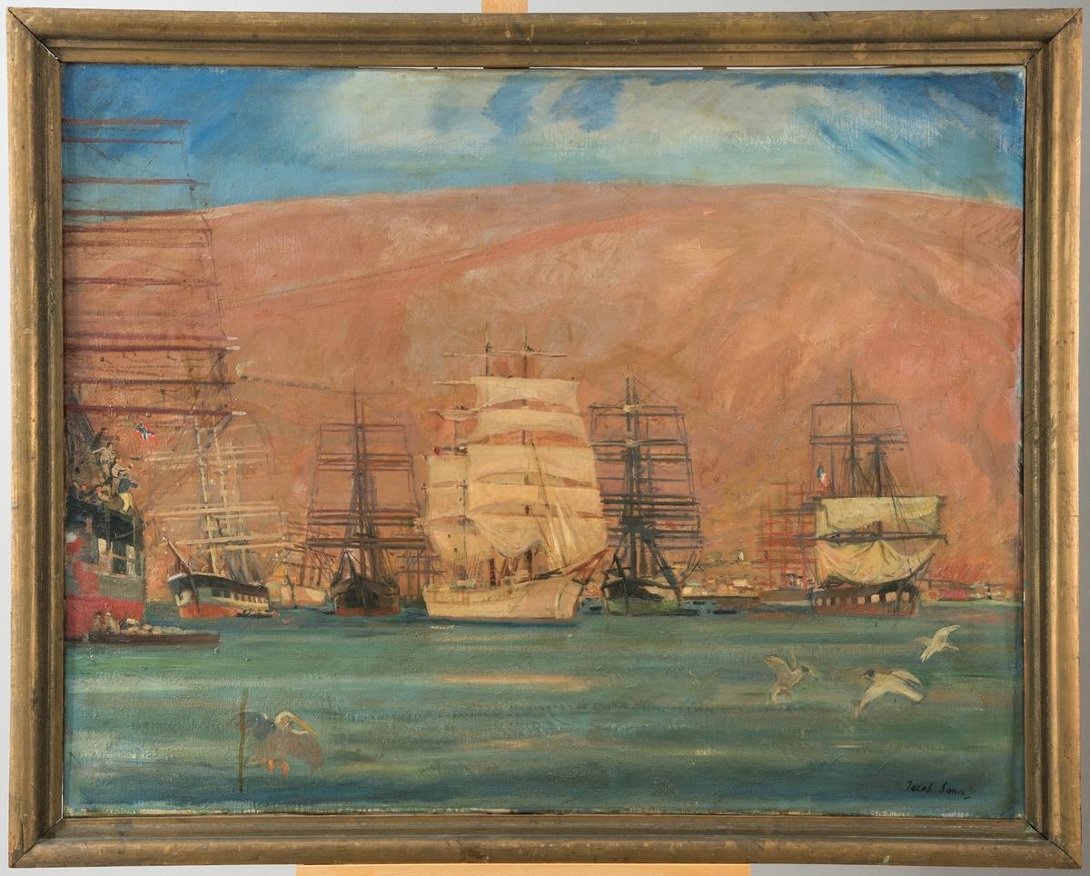 Seilskip i Pisagua havn