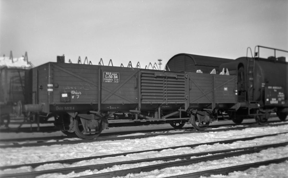 Normalsporet godsvogn type L4 nr. 50314.