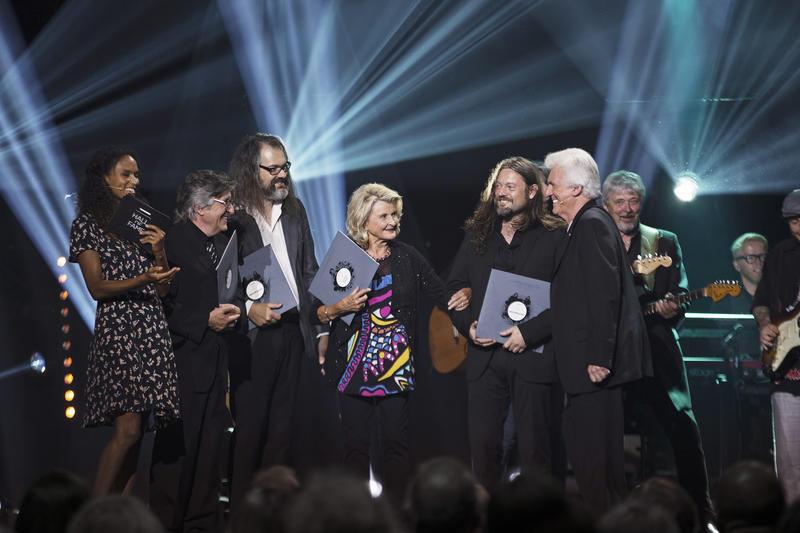 Fra seremonien i 2016, da Karin Krog, Svein Finjarn og Motorpsycho ble innlemmet i Rockheim Hall of Fame. Foto: Rockheim/Geir Mogen.