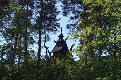 Gol Stavkirke på Norsk Folkemuseum. Foto: Astrid Santa, Norsk Folkemuseum.