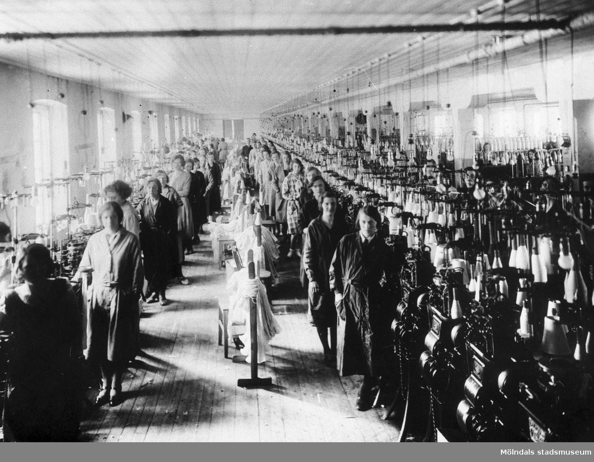 "Viktor Samuelssons fabrik, strumpfabriken ""Strumpan""."