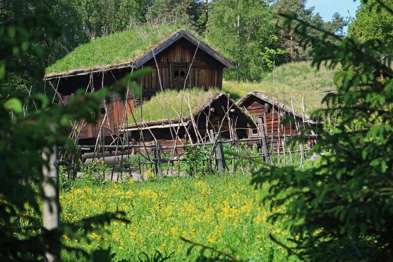 Tun fra Setesdal på Norsk Folkemuseum. Foto: Astrid Santa