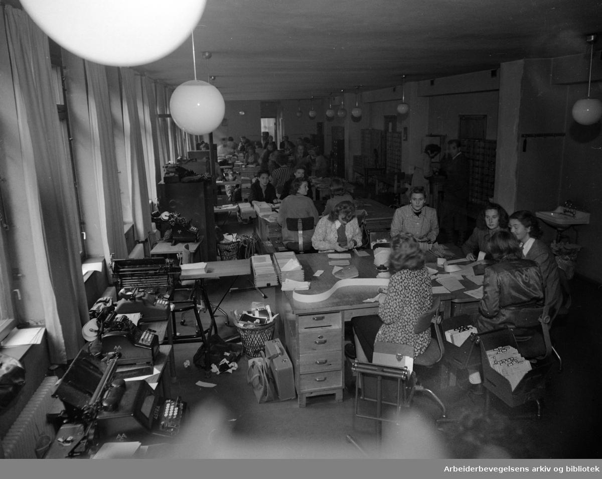 Postgirokontoret. September 1948