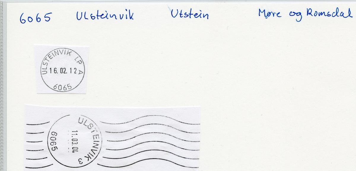 Stempelkatalog 6065 Ulsteinvik (Ulfsten, Ulstein), Ålesund, Møre og Romsdal