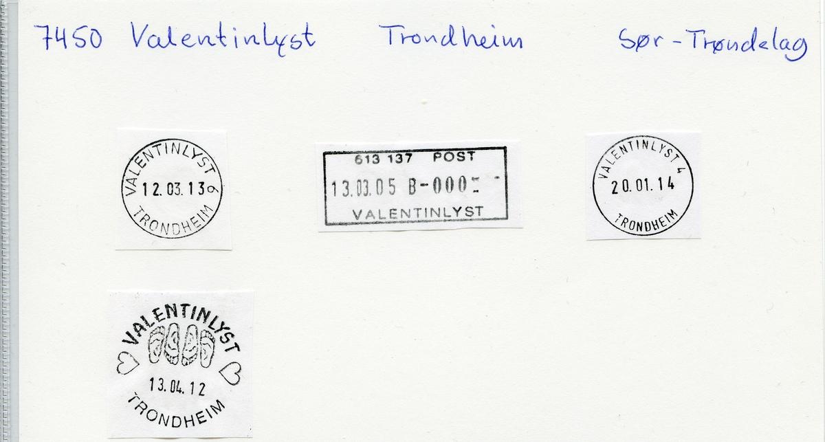 Stempelkatalog Valentinlyst, Trondheim, Sør-Trøndelag