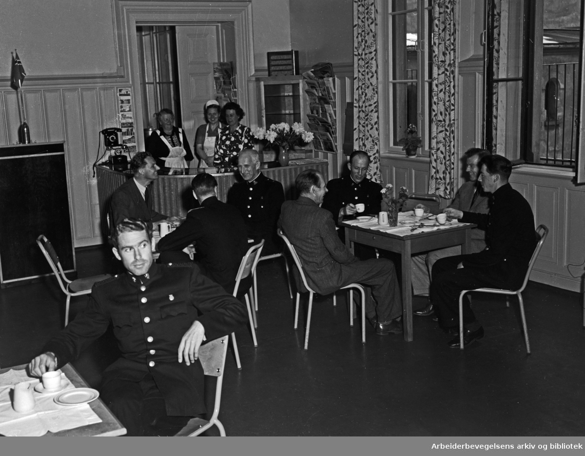 Møllergata 19. Interiør. Juli 1950