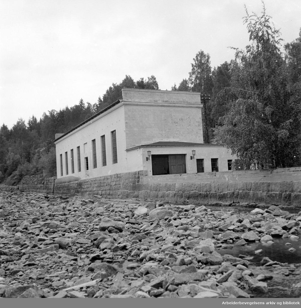 Maridalen: Hammeren transformatorstasjon. Ble satt i drift 15. juni 1900. Juni 1950