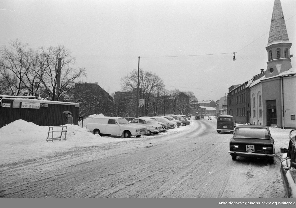 Lakkegata. Februar 1969