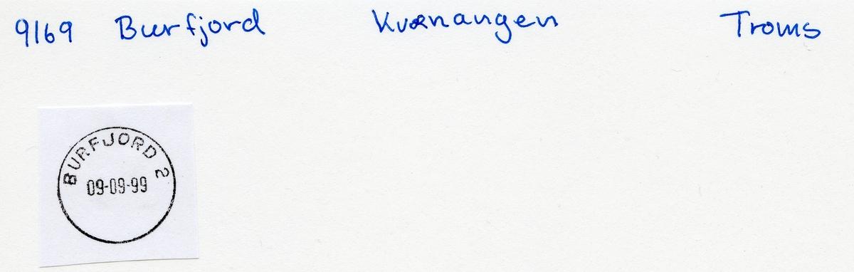 Stempelkatalog,9090 Burfjord. Tromsø, Kvænangen, Troms