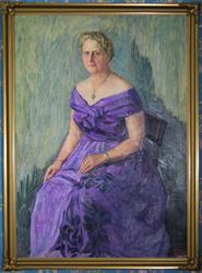 Portrett av Titti A. Omdal [Oljemaleri]