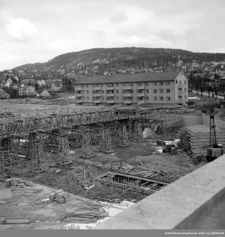 Grefsen Sporveishallen. Mars 1955