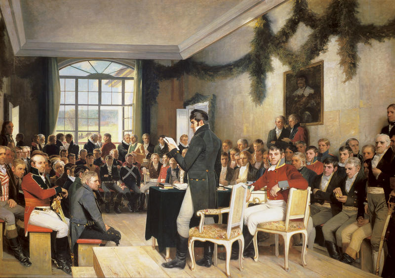 """Eidsvoll 1814"" av Oscar Wergeland (Foto/Photo)"
