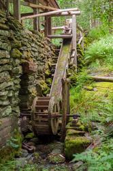 Detalj fra oppgangssaga ved Stekka i Tørvikbygd i Kvam herad