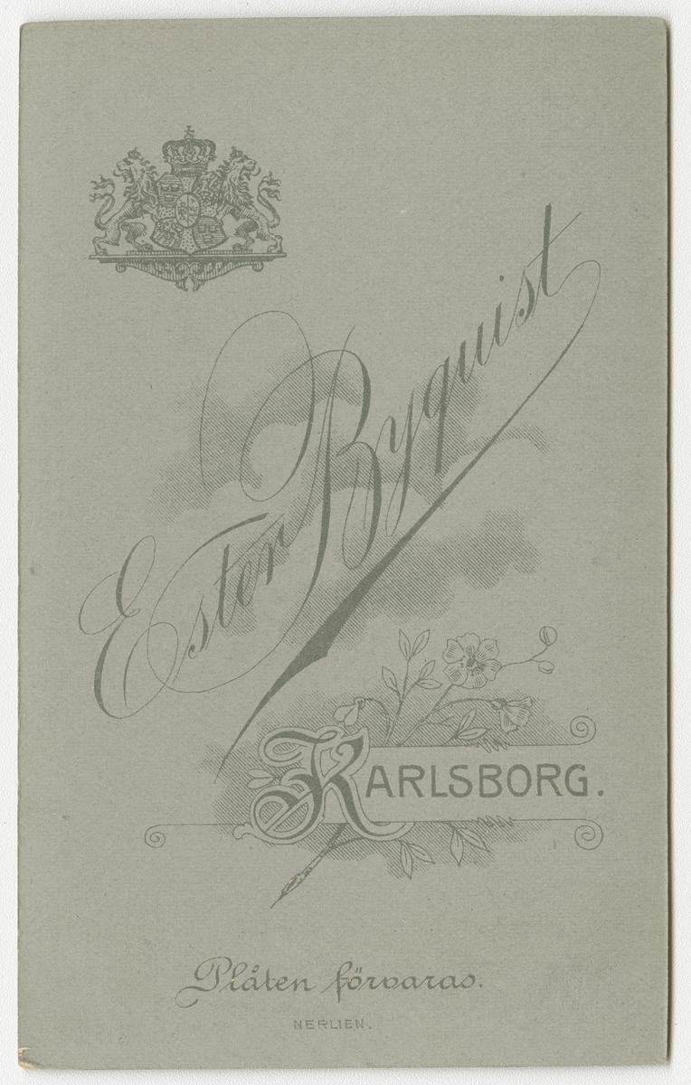 Porträtt av Alf Ragnar Almqvist, kapten vid Hallands regemente I 16.