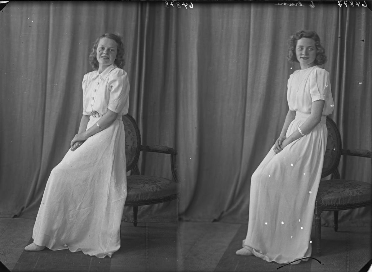 Portrett. Ung kvinne. Konfirmant. Bestilt av Thorvald Mikkelsen. Rogalandsgt. 192