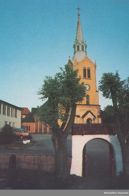 """Text till bilden: """"Kungshamns kyrka""""."""