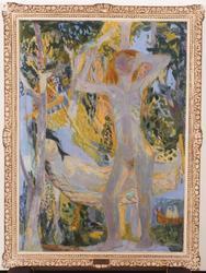 Unge trær og jenter [Maleri]