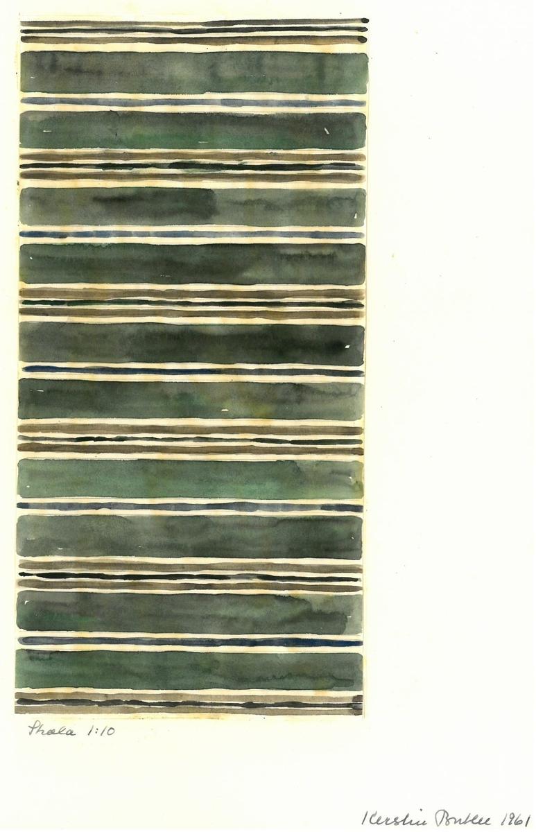 Skiss till trasmatta. Formgivning: Kerstin Butler 1961