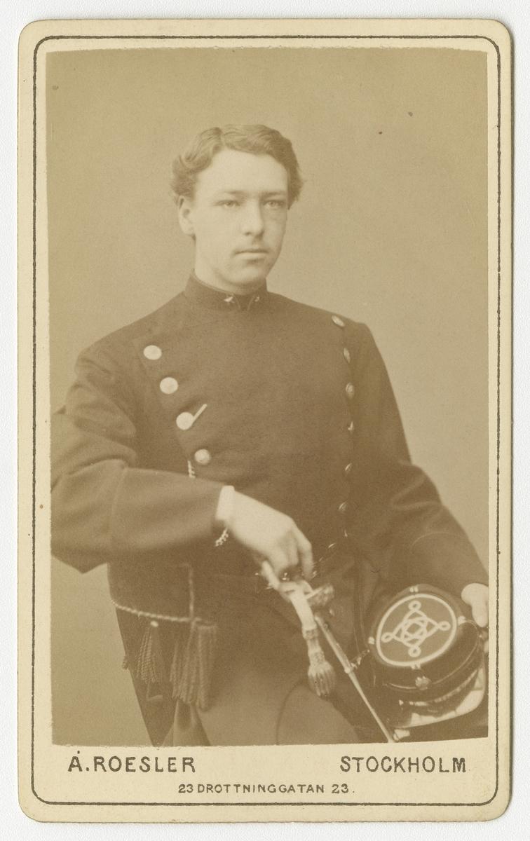 Porträtt av Isak Filip Martin Ehrenborg, underlöjtnant vid Västgöta regemente I 6.