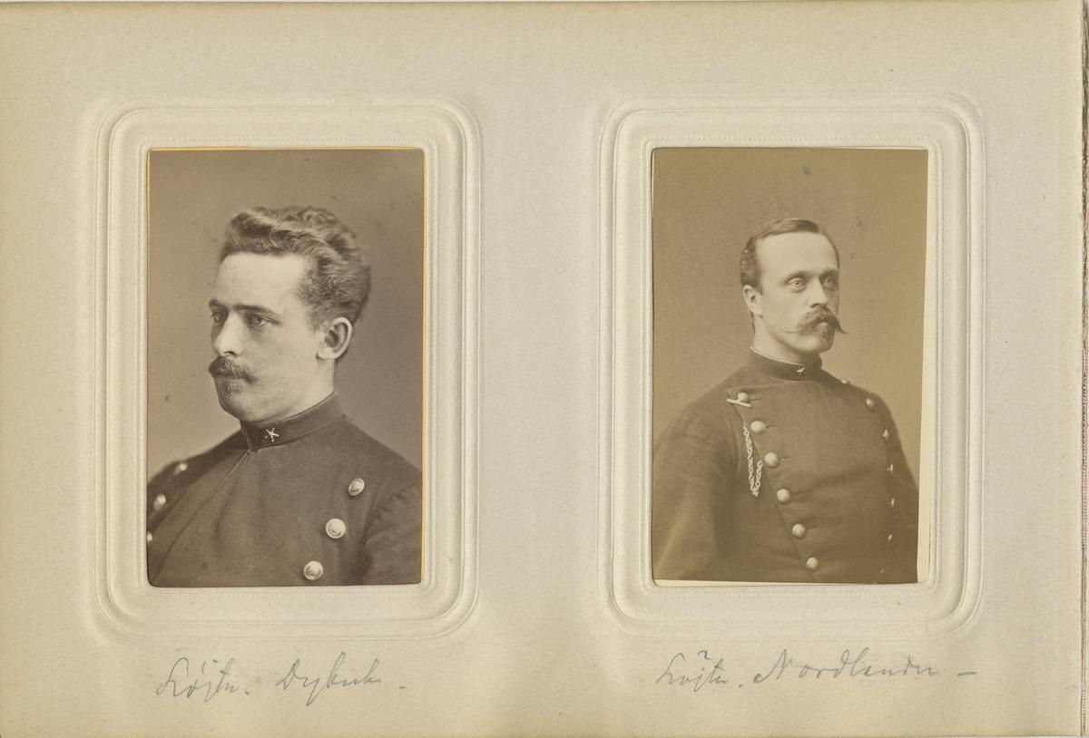 Porträtt av underlöjtnant Nord....(?)