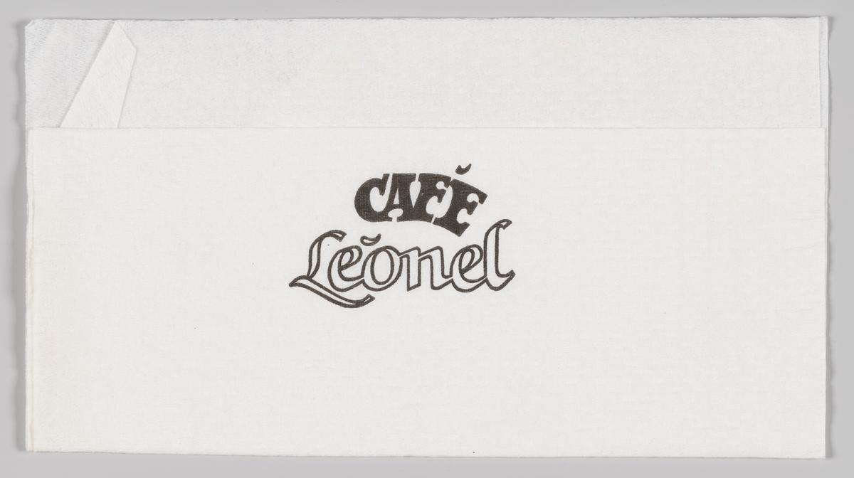 Reklametekst for cafè Leonel i Lille Grensen i Oslo.