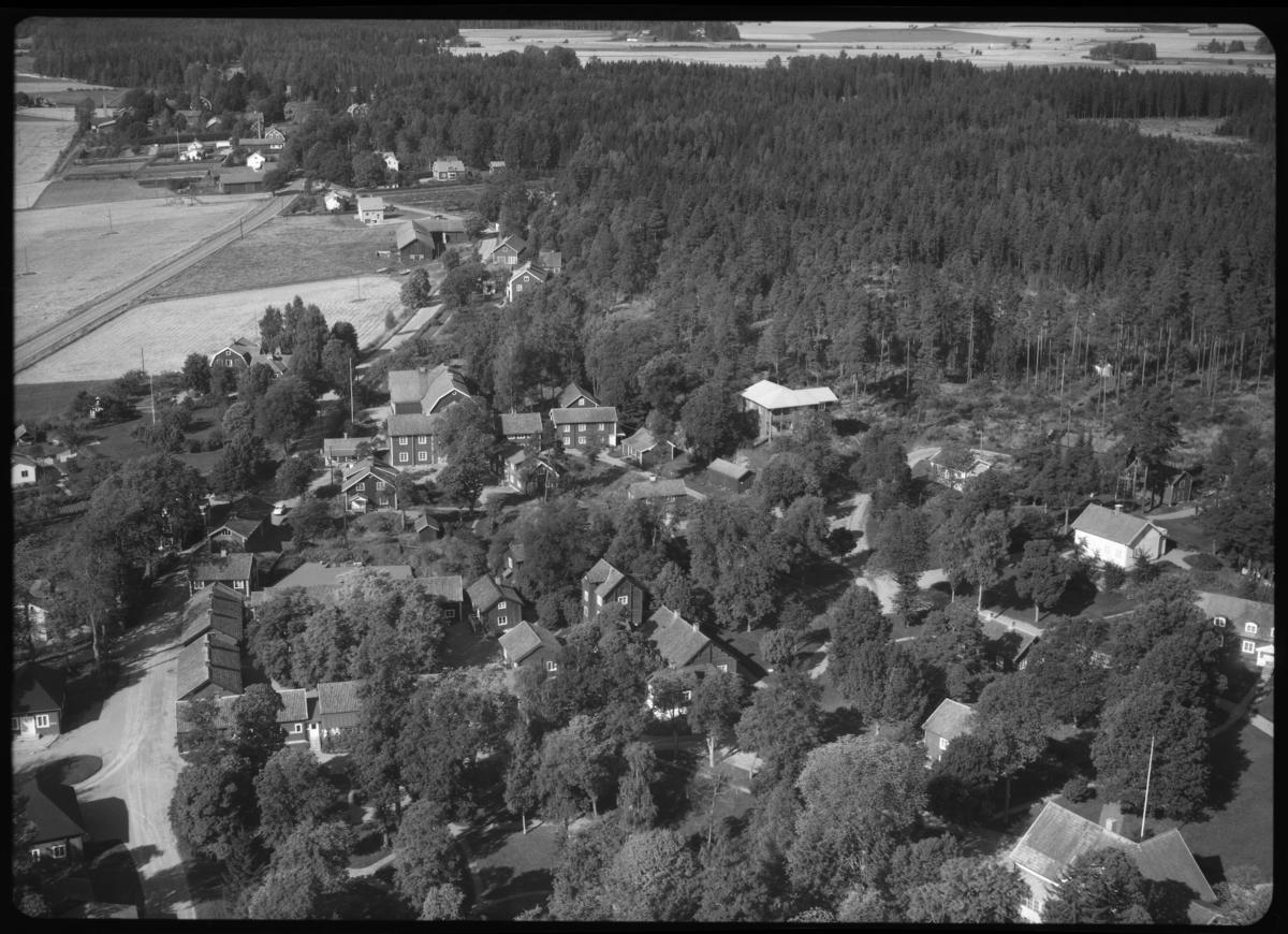 Flygfoto över Sätra brunn kurort, Sätra brunn. Tagen 1963 av AB Flygtrafik Dals Långed.